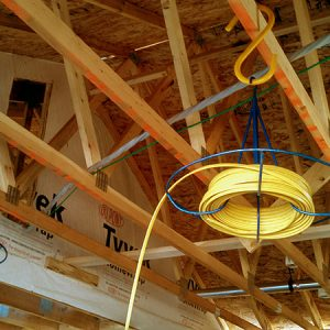 How Electrical Contractors Use Large S Hooks To Make Pulling Wire Easier