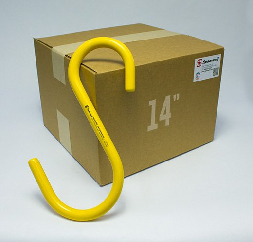 "Large S Hook 14"" Box of 25"